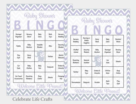 image about Printable Bingo Chips named 100 Elephant Boy or girl Shower Bingo Playing cards - 100 Printable Bingo