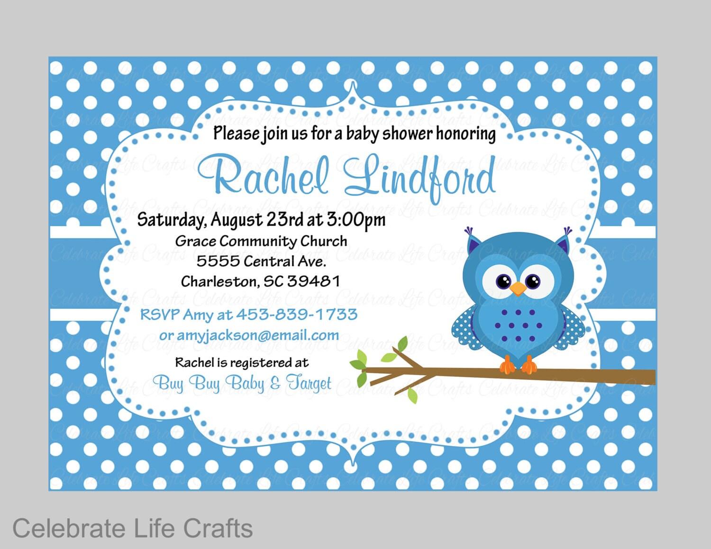 Baby Shower Invitations Printable Baby Boy Shower Invite | Etsy
