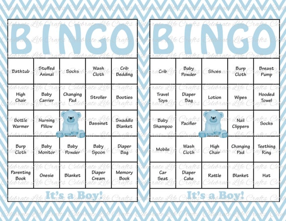 photo about Printable Bingo Chips identified as 100 Youngster Shower Bingo Playing cards - Printable Occasion Boy or girl Boy