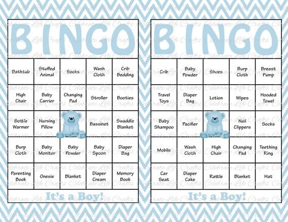 photograph regarding Baby Shower Bingo Cards Printable titled 100 Kid Shower Bingo Playing cards - Printable Bash Boy or girl Boy - Fast Down load - Youngster Blue Chevron Teddy Undergo Kid Shower Reward Bingo B028