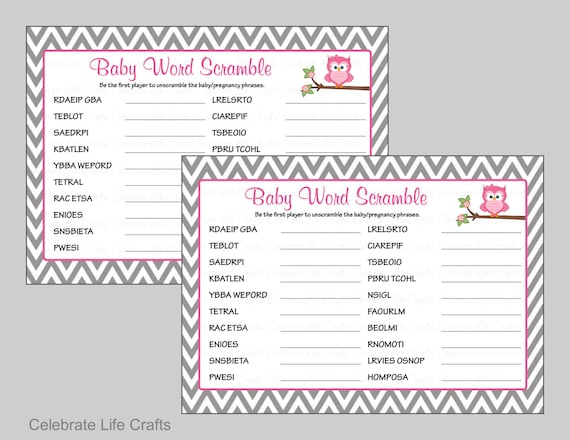 photo relating to Printable Baby Shower Word Scramble named Kid Shower Term Scramble Activity Resolution Top secret - Printable Child