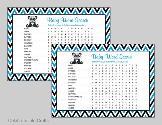 photograph about Printable Baby Shower Games With Answer Key identify Kid Phrase Appear Youngster Shower Sport - Printable Child Game titles
