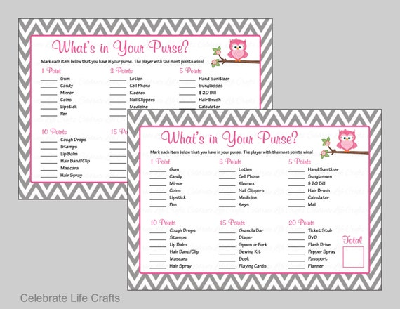 BabyShower What/'s In Your Purse Sports Instant Download asg Printable What/'s In Your Purse Game All Stars Chevron Blue Sports Balls
