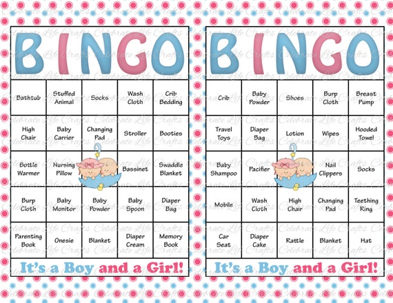 photograph about Free Printable Baby Shower Bingo Cards for 30 People named 30 Boy or girl Shower Bingo Playing cards - Printable Occasion Child Boy and