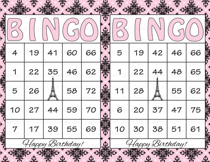 This is a photo of Intrepid Bingo Cards Printable