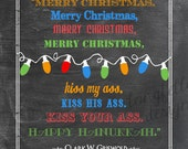 Clark Griswold - Colorful Chalkboard Look 11 x 14 Print - Fun For The Holidays