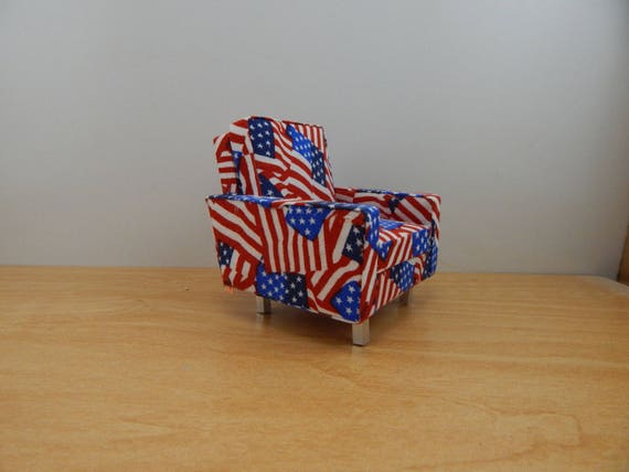 Brilliant Miniature 1 12 Scale Modern American Flag Chair Pdpeps Interior Chair Design Pdpepsorg