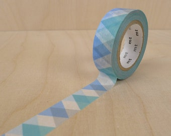 "Masking Tape ""triangle and diamond blue""  x1"