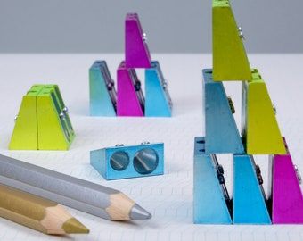 KUM colored metal pencil sharpener - double size x1