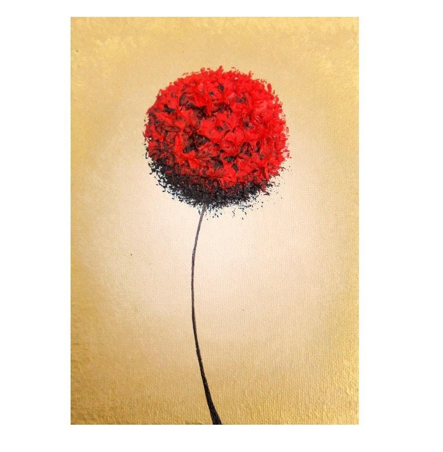Abstract Art Flower Art Giclee Print of Modern Art Red | Etsy