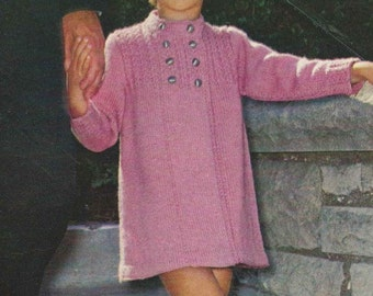 1970 Girls Knit Coat Pattern