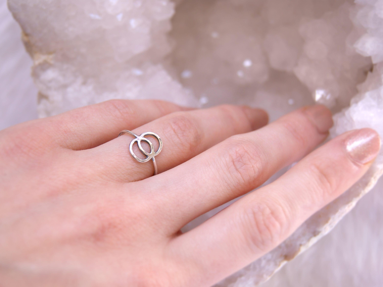 Sterling silver vesica piscis ring sacred geometry symbol | Etsy