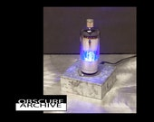 Custom Vacuum Tube Lamp - Blue Glowing Power Tube - Retro Industrial - Cool Steampunk Lamp -