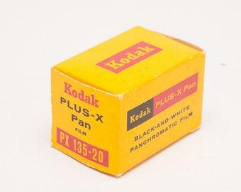 Kodak PLUS X PAN 35mm B&W Film - unexposed from MAR 1972 - Metal Film Canister in Original Box