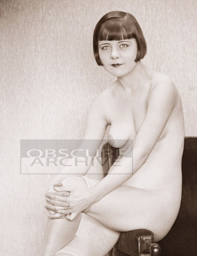 Sexy nude ziegfeld girl photo art, flapper image star louise brooks, johnston