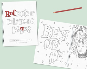 Rockstar Coloring Pages (printed)