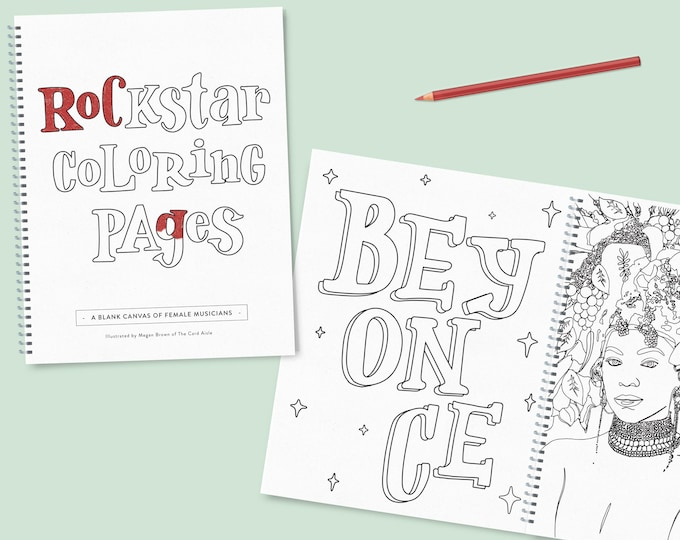 Featured listing image: Rockstar Coloring Pages (printed)