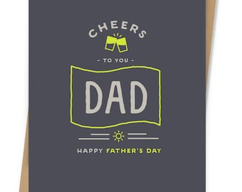 Cheers To You Dad Father's Day Card