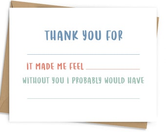Fill-in-the-Blank Thank You Card
