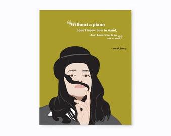 Norah Jones quote illustrated art print
