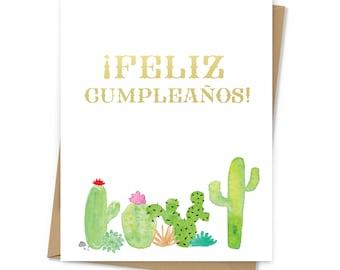 Feliz Cumpleaños Cacti Card