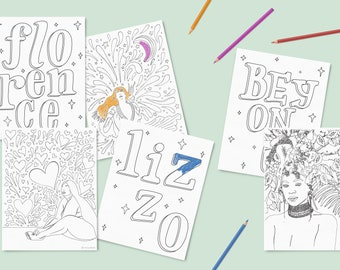 PDF Rockstar Coloring Pages - 25 sheets