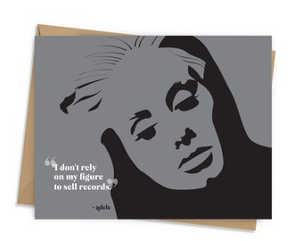 Adele Quote Card