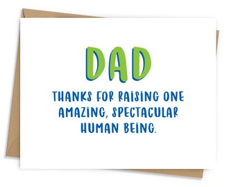 Spectacular Human Being Father's Day Card