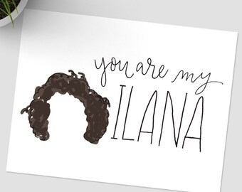You are my Ilana // You are my Abbi, Broad City cards, Yas Queen, You are my Best Friend, Love Ya Bitch
