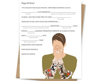Stefon Mad Lib Birthday Card