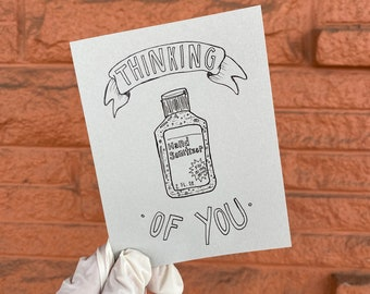 Thinking of You and Hand Sanitizer Card