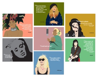 Female Rockstars Stationery Set