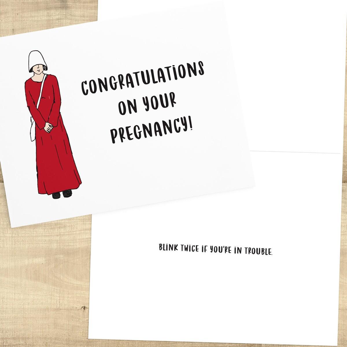 Congratulations Handmaids Tale Baby Shower Card