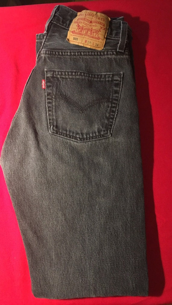 Levi's 501 for Women 28 x 34, faded black