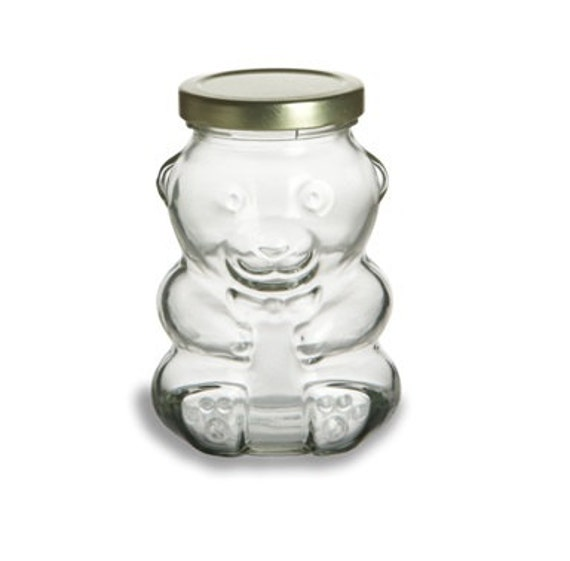 9oz Bear Barattolo Di Vetro Per La Marmellata Di Nozze Fai Da Te Gelatina Miele Bomboniere Salvadanaio