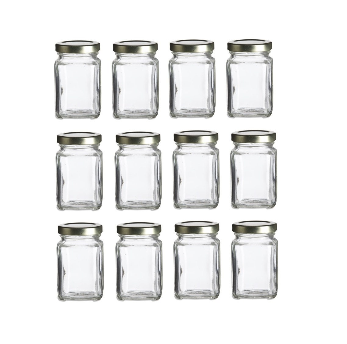 12 Pcs 375 Oz Glass Favor Jars For Wedding Favors Baby Etsy