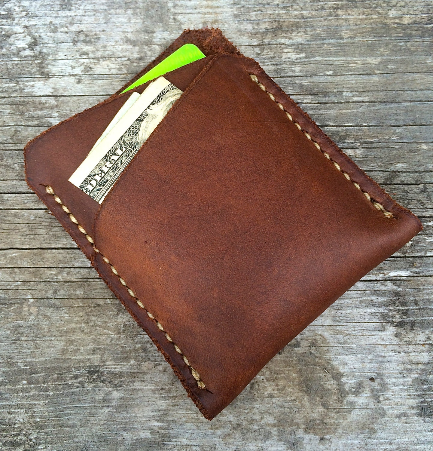 Minimalist wallet Mens wallet Front pocket wallet Minimal wallet Leather wallet Brown leather wallet Handmade wallet Card wallet The Lincoln