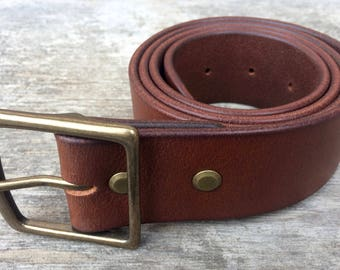Wide leather belt, 1.75 belt, Tan belt, Solid brass buckle, Wide belt, Tan waist belt, Women's belt, Men's belt, Custom belt, Boho belt