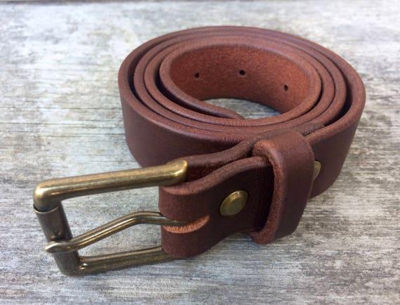 Boucle de ceinture en cuir marron en laiton massif ceinture   Etsy 279beaacc7e