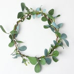 Flower Crown, Boho Wedding, Green Flower Crown, Greenery, Floral Crown, Flower Head Piece, Flower Hair Accessory, Wedding Crown, Eucalyptus