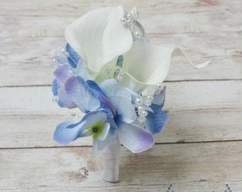 Wedding Corsage, Silk Corsage, Silk Flower Corsage, Calla Lily Corsage, Silk Wedding Corsage, Pin On Corsage, Silk Wedding Flowers, Corsage
