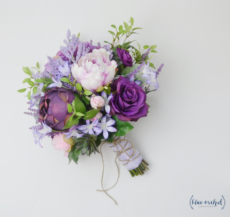 Boho bouquet purple lavender wildflower bouquet light etsy zoom izmirmasajfo