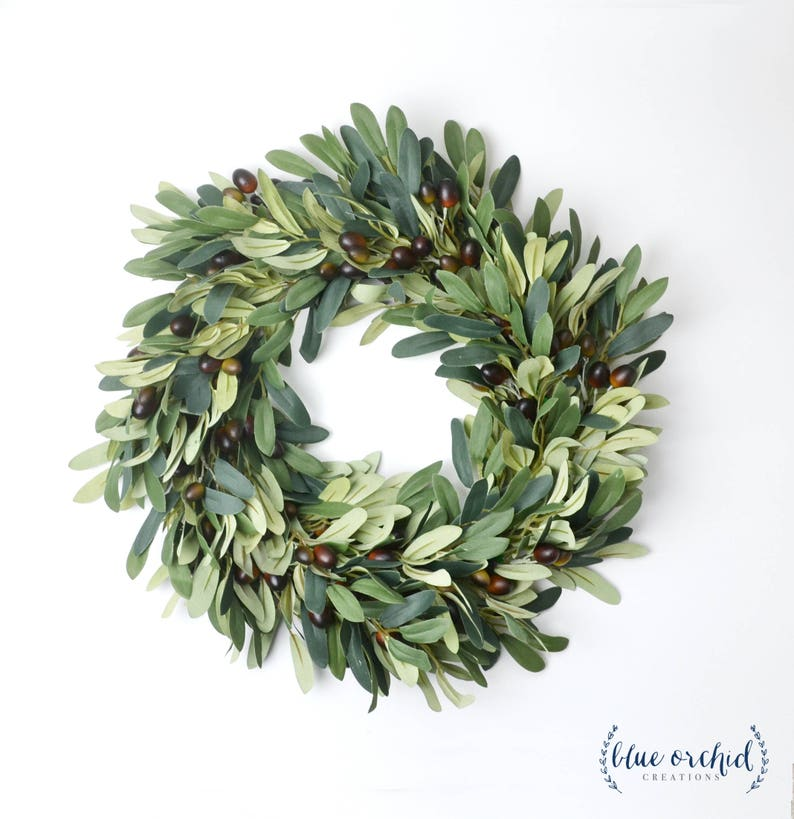 Olive Branch Wreath Silk Wreath Faux Wreath Farmhouse image 0