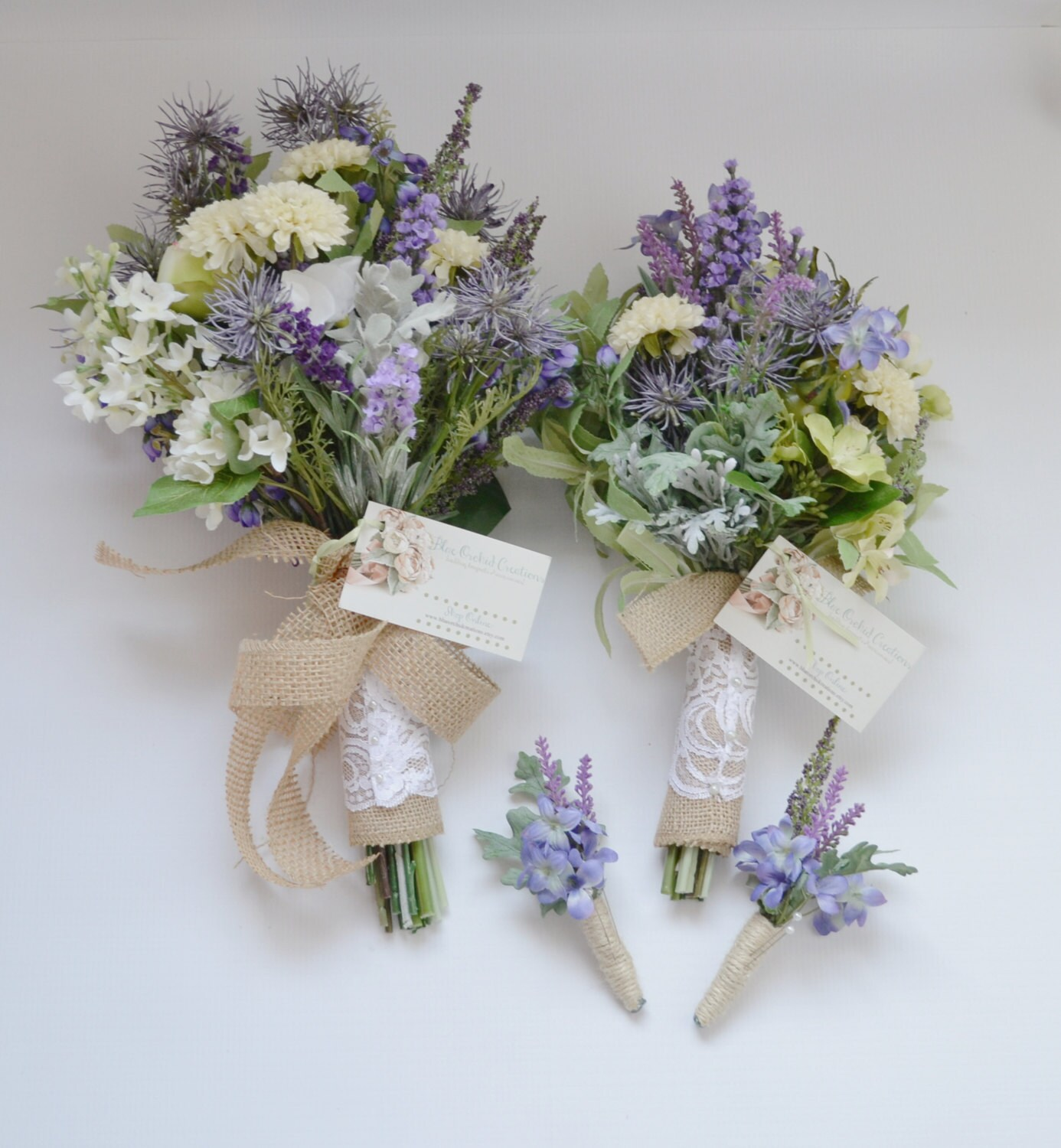 Wedding Bouquets Not Flowers: Wildflower Bouquet Package Bridal Bouquet Bridesmaid