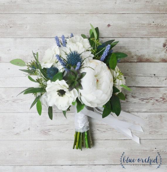 Bridal Bouquet Wedding Bouquet Peony Bouquet Anemones Etsy
