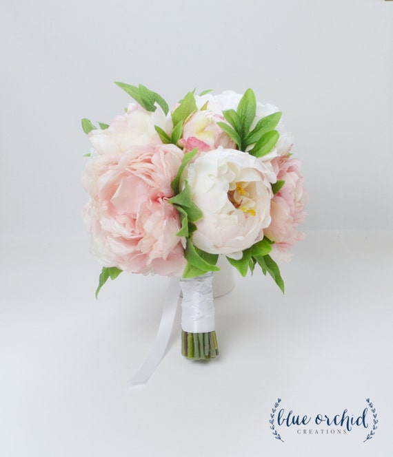 Peony bouquet wedding bouquet silk peonies silk flowers etsy image 0 mightylinksfo