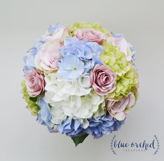 Hydrangea Bouquet Garden Style Bouquet Bridal Bouquet | Etsy