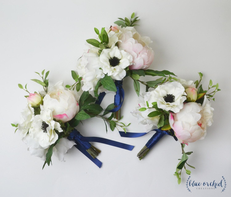 Bridesmaid bouquet silk flower bouquet peony bouquet blush etsy zoom izmirmasajfo