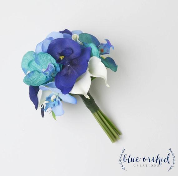 Orchid Bridesmaid Bouquet Blue Orchid Bouquet Bridesmaid | Etsy