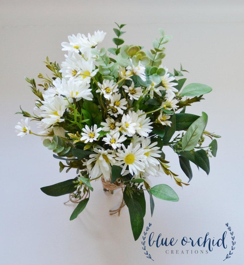 Ramo De Margaritas Silvestres Con Flores Blancas Y Pequenas Etsy